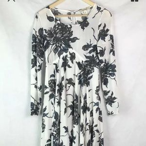 Free People Maxi Dress XS white Gray Floral
